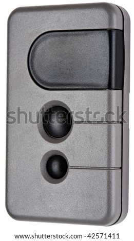 Wireless Remote Garage Door Opener Transmitter in Gray and Black