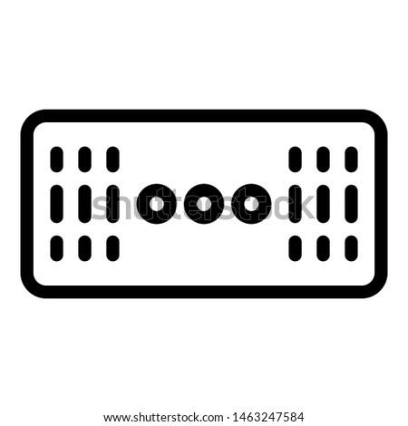 Wireless stereo speaker icon. Outline wireless stereo speaker icon for web design isolated on white background