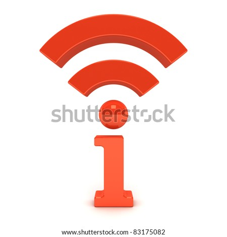 Wireless wifi information icon