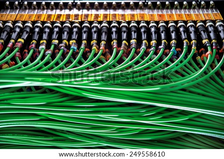 Wires connected to the network server