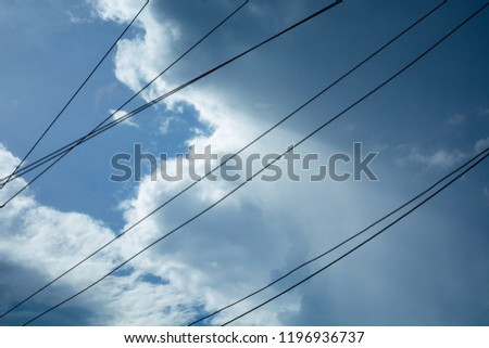 Wires with sky #1196936737