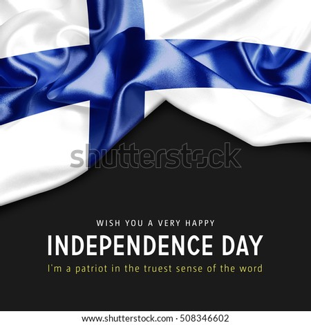 Wish you a Very Happy Finland Independence Day. I'm a Patriot in the truest sense of the word Photo stock ©
