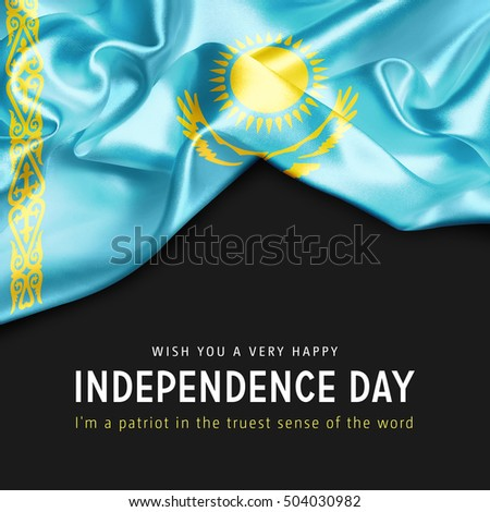 Wish you a Very Happy Kazakhstan Independence Day. I'm a Patriot in the truest sense of the word Photo stock ©
