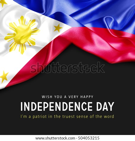 Wish you a Very Happy Philippines Independence Day. I'm a Patriot in the truest sense of the word Photo stock ©