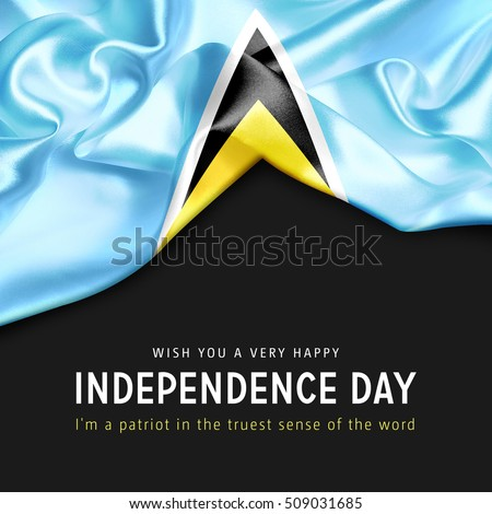 Wish you a Very Happy Saint Lucia Independence Day. I'm a Patriot in the truest sense of the word Photo stock ©