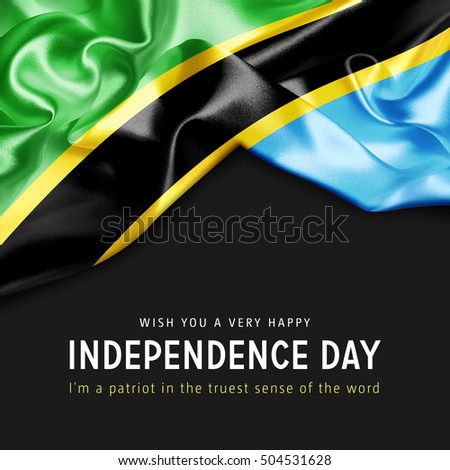 Wish you a Very Happy Tanzania Independence Day. I'm a Patriot in the truest sense of the word Photo stock ©