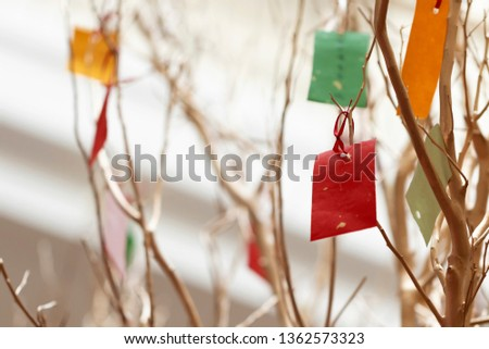 Wishing tree wish card