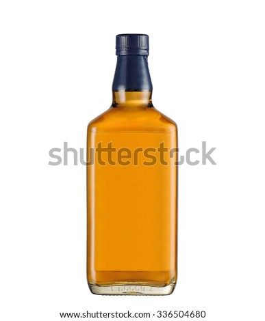 wisky bottle on white background #336504680