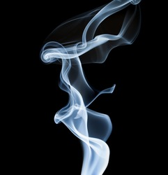 wisp of smoke on black background