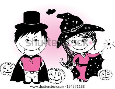 witch and vampire