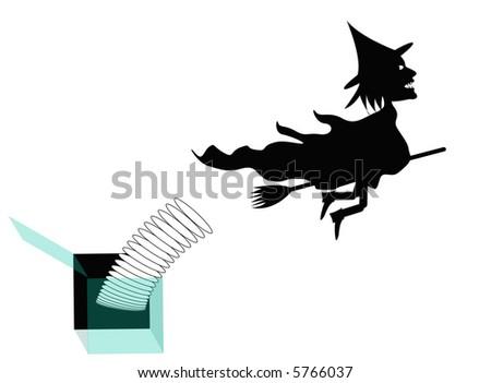 Witch Jack in a Box Hallowe'en