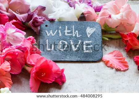 With love concept and flowers #484008295