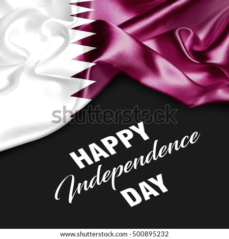 With you a Very Happy Qatar Independence Day. I'm a Patriot in the truest sense of the word Photo stock ©