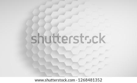 Withe sphere hexagon texture
