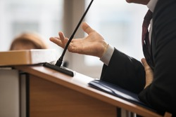 witness testifies in a Russian court