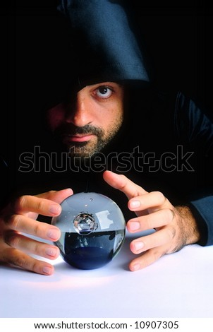 Wizard and his Crystal Ball - Waiting for your Future .