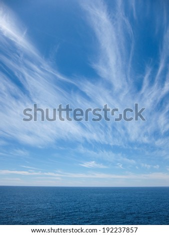 Wndy Clouds On The Evening Atlantic Ocean Sky