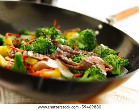 wok with stirfry