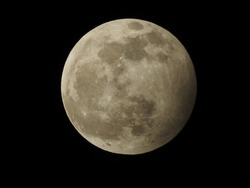 Wolf Moon penumbral lunar eclipse 01-10-2020  Photograph taken at 20:30 from Spain