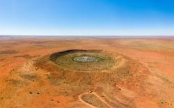 Wolfe Creek Meteorite crater in Western Australia