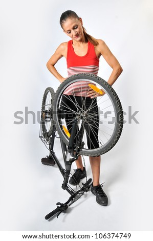 woman and a bicycle