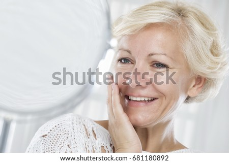 Woman and face care