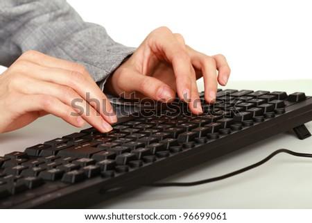 woman and keyboard