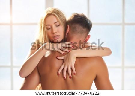 Woman and man. Young sensual couple. #773470222