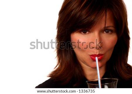 Woman And Straw