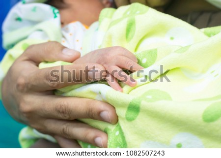 Woman are embracing the infants are regularly in the preservation of suspension while awaiting treatment at the hospital.