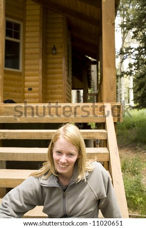 woman at cabin #11020651