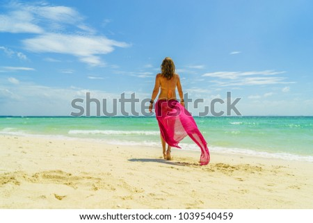 Woman at the beach in Koh Poda island #1039540459