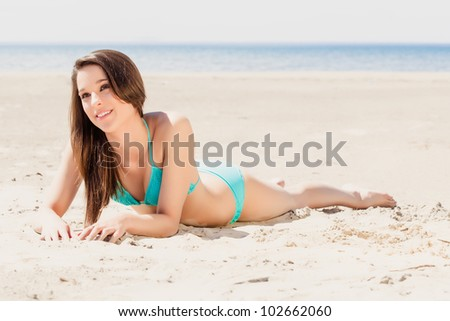 Woman at the beach on vacation