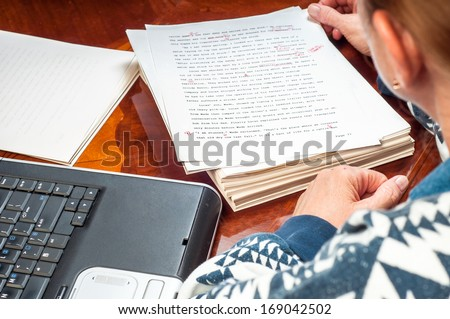 woman author re writing her...