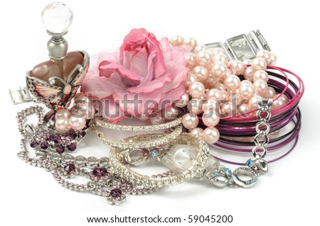 Woman beauty  accessory on white background