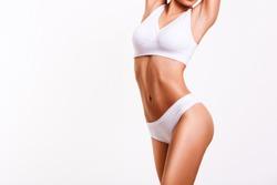 Woman beauty, body care.