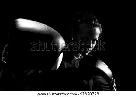 Woman boxer