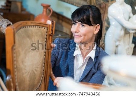 woman buying antiques #747943456