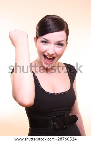 Woman celebrating!
