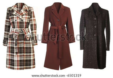Woman coats isolated on white