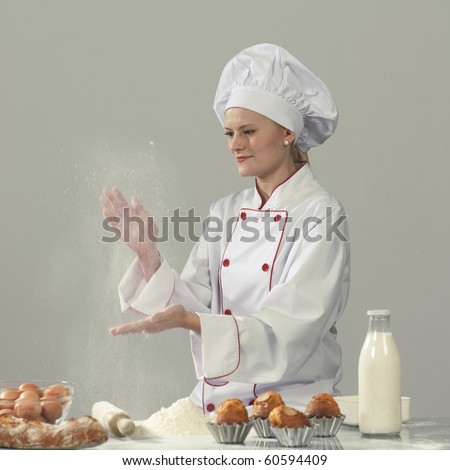 woman cook at the kitchen