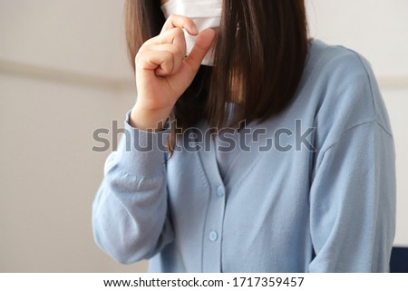 Woman coughing due to poor physical condition Stock photo ©