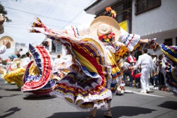 woman dancing in ibagué colombia san pedro carnaval