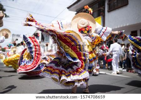woman dancing in ibagué colombia san pedro carnaval Stock fotó ©