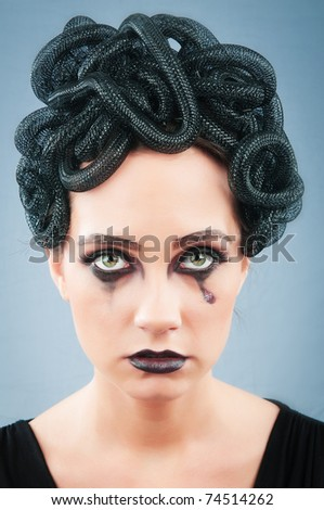Woman depicting the concept of Evil #74514262