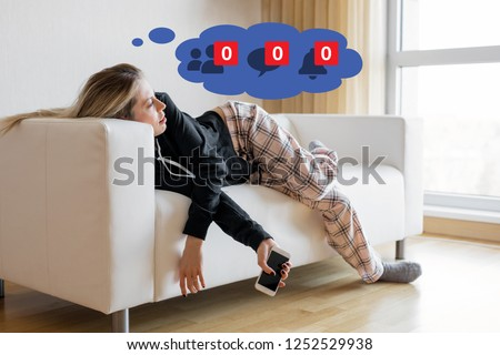 Woman depressed about inactivity on her social media