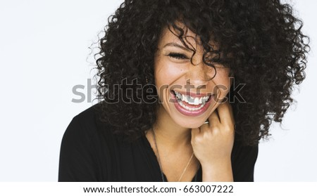 Woman doing close up photoshoot in studio - Shutterstock ID 663007222