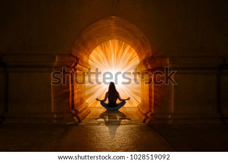 Woman doing yoga and meditation