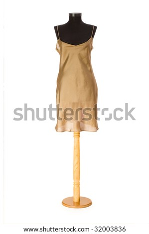 Woman dress isolated on the white background