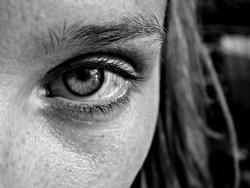 Woman eye close-up face
